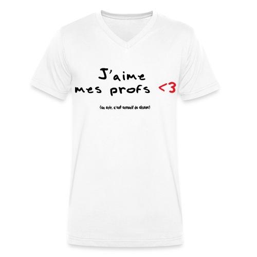 J'aime mes profs (H) - T-shirt bio col V Stanley & Stella Homme
