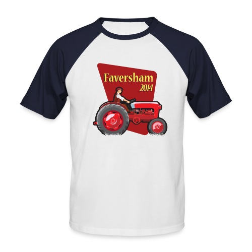 Faversham Transport Tractor - Men's Baseball T-Shirt