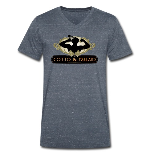 Maglietta da fighetto Cotto & Frullato - T-shirt ecologica da uomo con scollo a V di Stanley & Stella