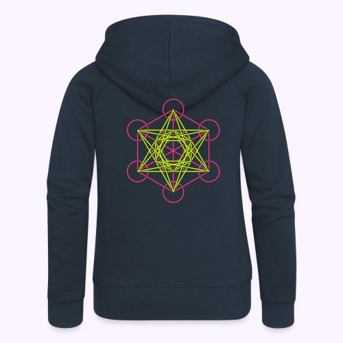 Metatron Cube 2-Color Hooded Jacket - Women's Premium Hooded Jacket