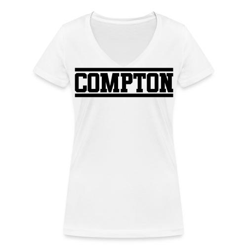 Compton - Vrouwen bio T-shirt met V-hals van Stanley & Stella