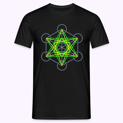 Metatron Cube 3-Color: Men Classic Shirt - T-shirt Homme