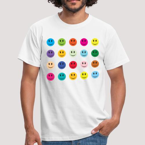 Multi Smiley Print - Men's T-Shirt