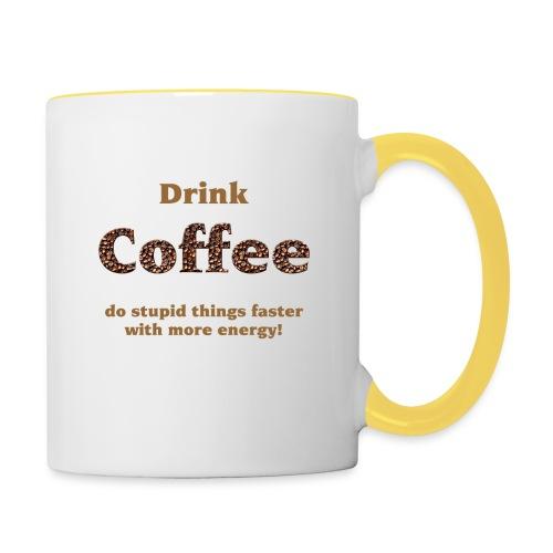 Koffie Mok - Mok tweekleurig