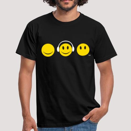 See Hear Speak Smiley  - Men's T-Shirt