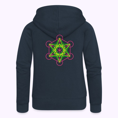 Metatron Cube 3-Color Hooded Jacket  - Women's Premium Hooded Jacket