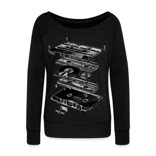 Record Womens Boat Neck Shirt  - Women's Boat Neck Long Sleeve Top