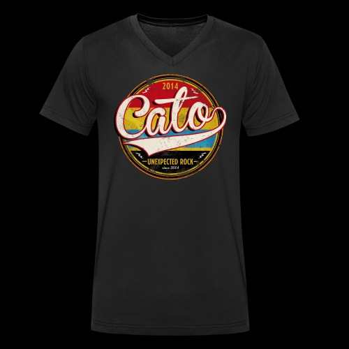 CATO Retro-Style - Männer Bio-T-Shirt mit V-Ausschnitt von Stanley & Stella