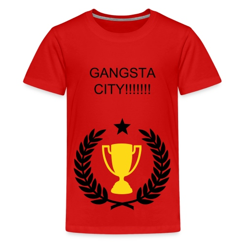 GANGSTA CITY TSHIRT!!!!!!! - Teenage Premium T-Shirt