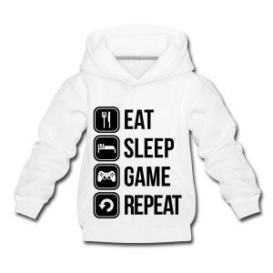 Eat Sleep Game Repeat - Kids' Premium Hoodie