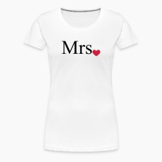 Mrs with heart dot (Mr and Mrs set) T-Shirts