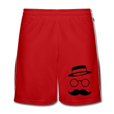 Retro vintage face with Moustache & Glasses Trousers & Shorts