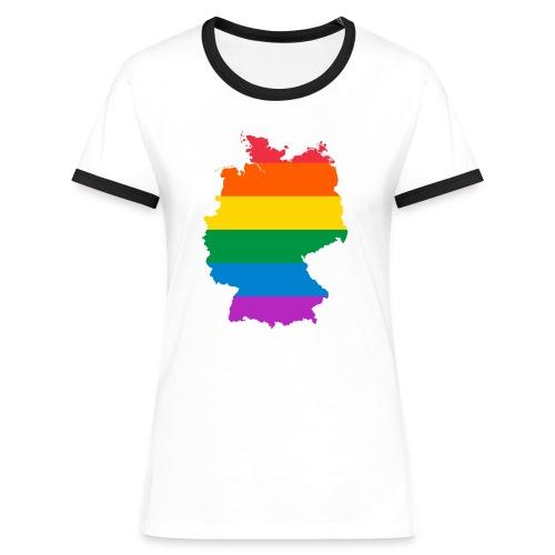 Deutschland Regenbogen Land - Frauen Kontrast-T-Shirt