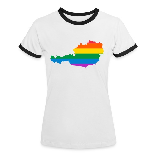 Österreich Regenbogen Land - Frauen Kontrast-T-Shirt