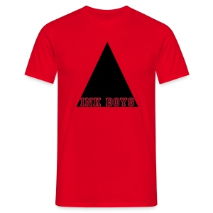 triangle ink boys tshirt red - Mannen T-shirt