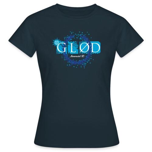 Glød Dametopp mørkblå - T-skjorte for kvinner