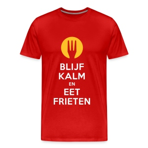 keep calm en eet frieten - Mannen Premium T-shirt
