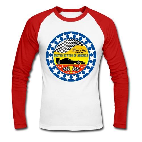 US Racing Team - Men's Long Sleeve Baseball T-Shirt