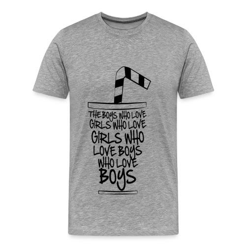 The Black Cup (Men) - Mannen Premium T-shirt