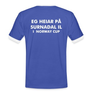 NORWAY CUP-SUPPORTER - Kontrast-T-skjorte for menn