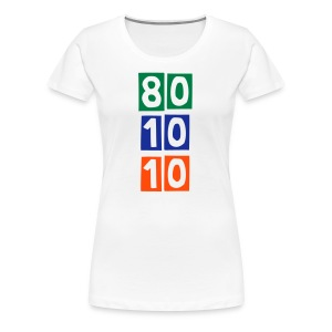 80/10/10 Ladies Tee - Colourful numbers - Women's Premium T-Shirt