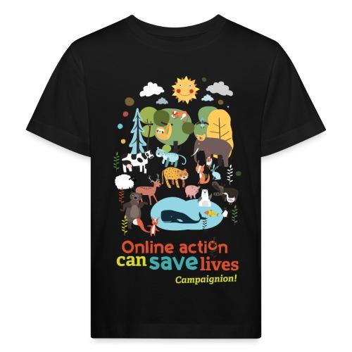 Animals Kid black - Kids' Organic T-Shirt