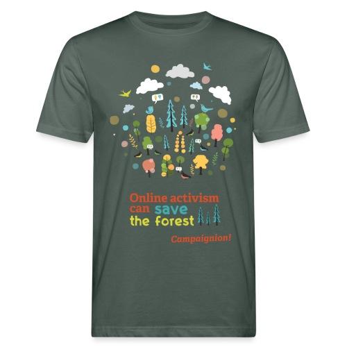 Forest Gents darkgrey - Men's Organic T-Shirt