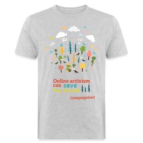 Forest Gents grey - Men's Organic T-Shirt