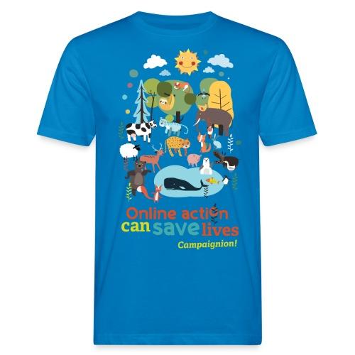 Animals Gents blue - Men's Organic T-Shirt