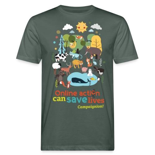 Animals Gents darkgrey - Men's Organic T-Shirt