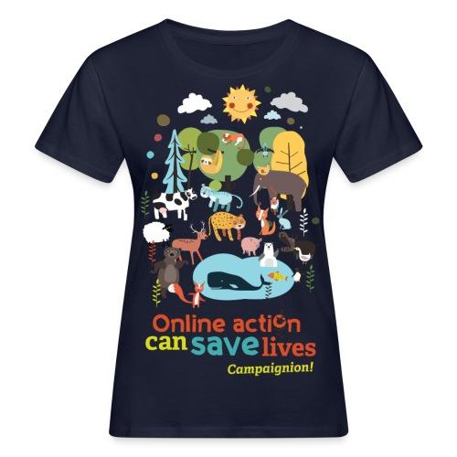 Animals Lady black - Women's Organic T-Shirt