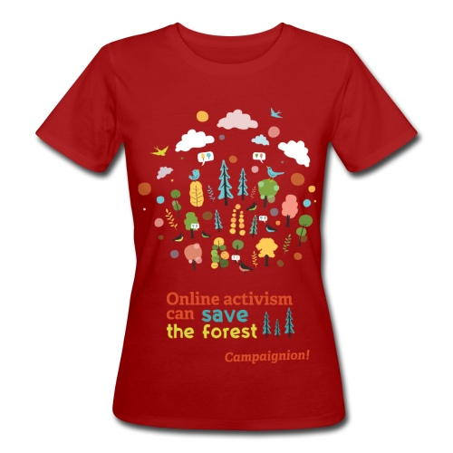 Forest Lady darkgrey - Women's Organic T-Shirt