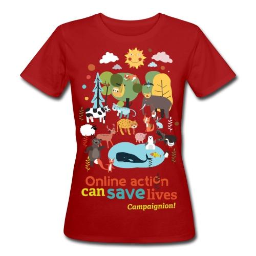Animals Lady darkgrey - Women's Organic T-Shirt