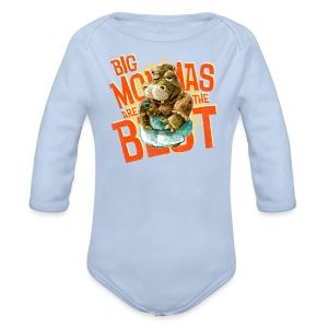 big mommas are the best! - Longlseeve Baby Bodysuit