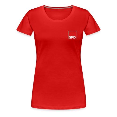 SPD Girlieshirt mit Rückendruck - Frauen Premium T-Shirt