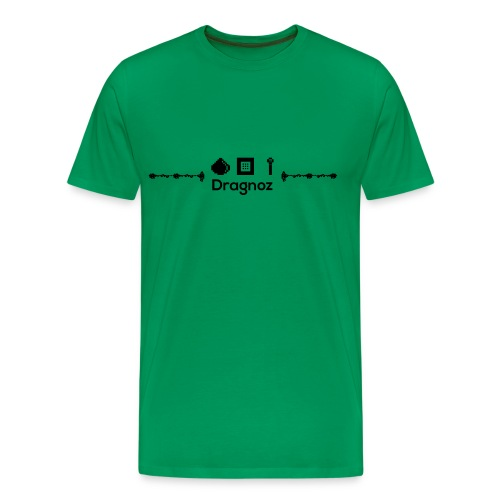dragnoz T black logo - Men's Premium T-Shirt