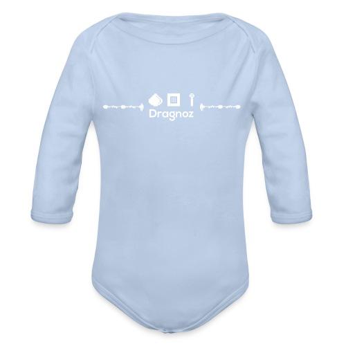 Dragnoz Baby Grow white Logo - Organic Longsleeve Baby Bodysuit