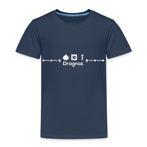 Dragnoz kids T white Logo - Kids' Premium T-Shirt