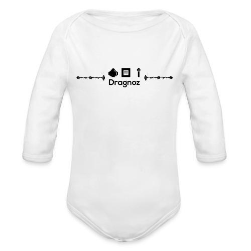 Dragnoz Baby Grow Black Logo - Organic Longsleeve Baby Bodysuit