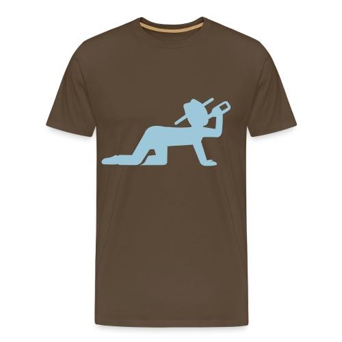 trinkendes Männeken Herren Shirt - Männer Premium T-Shirt