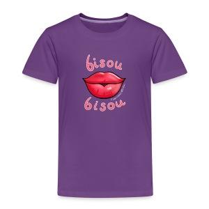 Ze Cool Purple Kiddy Bisou Bisou T-Shirt - Kids' Premium T-Shirt