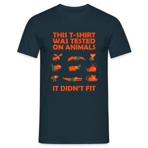 animal tested - Men's T-Shirt