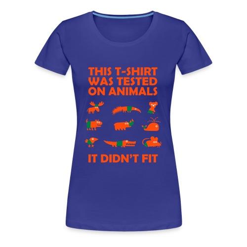 animal tested - Women's Premium T-Shirt