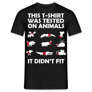 Tested on animals - Men's T-Shirt