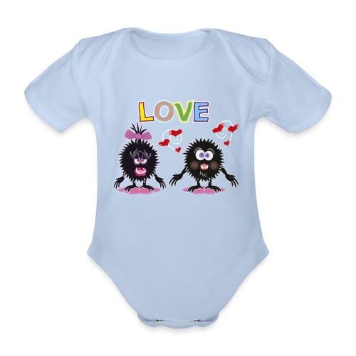 Blorpen-body LOVE - Ekologisk kortärmad babybody
