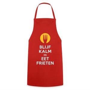 keep calm en eet frieten - Keukenschort