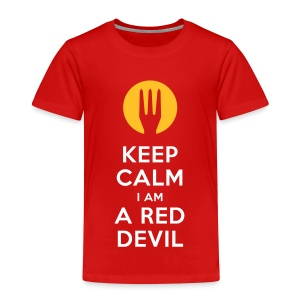 keep calm i am a red devil - Kinderen Premium T-shirt