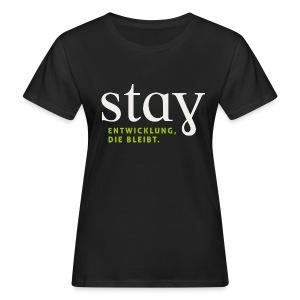 Organic Frauen Shirt  - schwarz - Frauen Bio-T-Shirt