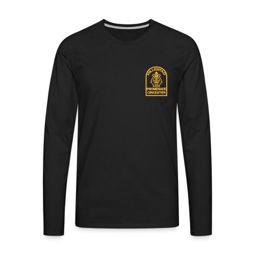 Langermet tynn genser, størrelse opp til 5xl - Premium langermet T-skjorte for menn