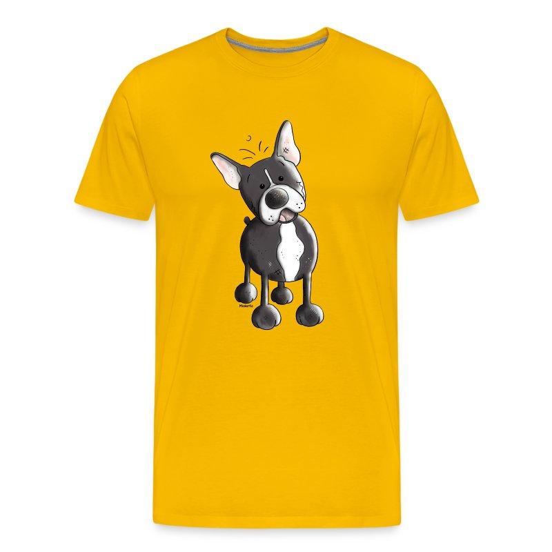 lustige franz sische bulldogge hund t shirt spreadshirt. Black Bedroom Furniture Sets. Home Design Ideas
